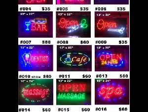 星光招牌  LED OPEN SIGNS $35.00/EA