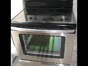 Amana不锈钢平面炉头,自动清洗, $380