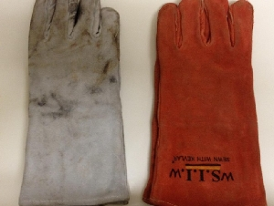 半价转让几乎全新焊工手套