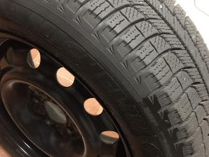 一套(4个)米其林雪胎附带4个轮毂