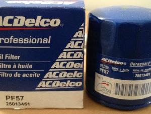 全新原厂汽油发动机机油过滤器 ACDelco Filter PF57 (本田,马自达,道奇,现代)