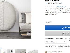 9成新IKEA大靠枕