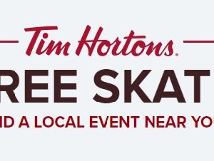Tim Hortons 免费溜冰活动!小伙伴们约起来~